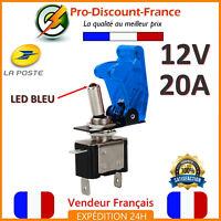 1 Bouton Interrupteur Bleu LED Métal 12V 20A Voiture SPST On Off Switch Bascule