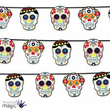 Halloween Bright Mexican Day Of The Dead Party Skull Bunting Garland Decoration