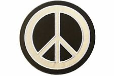 Reflective Peace Sign Embroidered Iron On/Sew On Patch (6 inch)