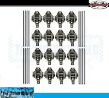 16 updated Rocker arms with pushrods for GM 4.8 5.3 5.7 6.0 6.2 Engines