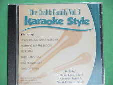 The Crabb Family #3 Christian Daywind Karaoke Style~ Nothing But the Blood ~CD+G