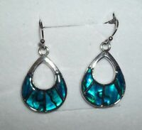 Beautiful Puau Earrings- Pierced, Drop, Silver Plated