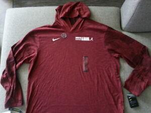 $50 Nike Alabama Crimson Tide Hooded Dri-Fit Tee T Shirt Mens 2XL XXL NWT