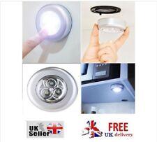 2 STICK ON LED LIGHTS BATTERY Round under shelf lighting MINI SPOT Loft Circular