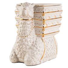 Llama and Basket Wax Warmer Animal Decor No Flame Soot Residue Gold Cream Gift
