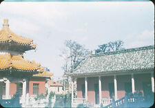 1950s China Kodachrome Slide - Chinese Temple / House - 35mm Red Border
