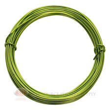 39 Ft. Apple Green Aluminum Craft Wire 12 Gauge Jewelry Making Beading Wrapping