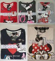disney minnie mouse damen pyjama langer schlafanzug gro er print s m l xl neu ebay. Black Bedroom Furniture Sets. Home Design Ideas