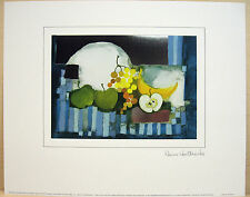 Rosina Wachtmeister  STILL LIFE WITH GREEN APPLES  24 x 30 cm SPECIAL EDITION