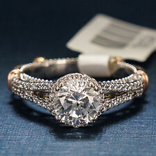 With Red Gold Accents D107-R-O Verragio Engagement Ring 14K White Gold