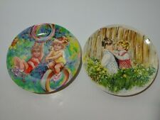 "*Two Wedgewood Vickers Plates ""Riding High"" & ""Be My Friend"" made in England."
