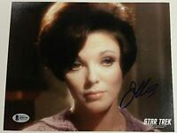 JOAN COLLINS Signed 8x10 Photo Actress AUTOGRAPH #2 w/ BAS Beckett COA