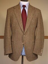Mens POLO RALPH LAUREN Brown Check Tweed Sport Coat Jacket Corneliani - 42 R