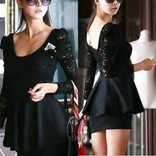 Lace Cocktail Peplum Dresses for Women