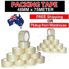 108 72 36 12 PCs Roll Tape Sticky Packing /Sealing/ Shipping/Box Carton 48mm 75m