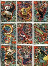 Kung Fu Panda Complete Sparkly Stickers Chase Card Set S1-9