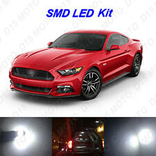 8 x Xenon White LED Interior Bulbs Lights For 2015 2016 2017 Ford Mustang