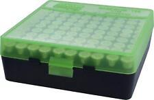 Mtm Plastic Ammo Box, Green / Black 100 Round 38 / 357 - Buy 5 Get 1 Free