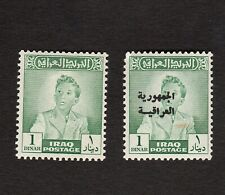 IRAQ 1948 & 1958 PAIR OF ONE DINAR STAMPS S.G. 206 & 425 MINT WITH MINOR FAULTS