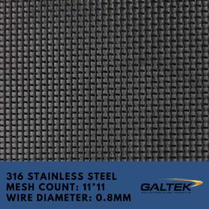316 Stainless Steel Security Mesh Door Window Mesh Security Door Wire Mesh