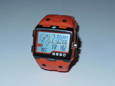 Used* Timex Expedition WS4 Watch T49761 Orange Altimeter Compass Barometer ABC