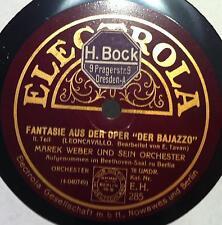 Rare 78 Electrola MAREK WEBER leoncavallo fantasie aud der bajazzo VG+ E H 285