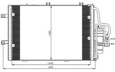NRF Condensador, aire acondicionado OPEL CORSA TIGRA VAUXHALL CORSAVAN 35530