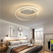 White/Black Modern Chandelier Bedroom Living Room Home Decor Round Chandeliers