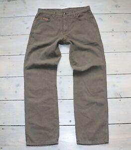 Men's Vintage WRANGLER TEXAS Zip Fly Brown Cotton Denim Jeans Size W31 L30