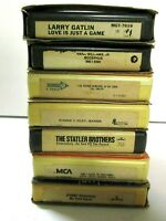 VTG Lot of 7 - 8 Track Tapes UNTESTED AS IS Various Country Artists Statler Bros