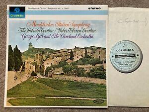 Mendelssohn / Weber - George Szell **Columbia SAX 2524 ED1  NM