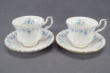 Pair of Royal Albert Bone China Memory Lane Tea Cups & Saucers Circa 1965 - 2007