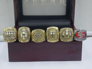 6PCS 1981 1984 1988 1989 1994 2012 San Francisco 49ers World Championship Ring !