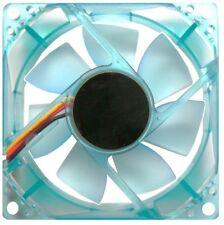 AVP 80MM 8CM TRANSPARENT BLUE 4 PIN MOLEX PERFORMANCE CASE COOLING FAN OEM