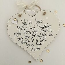 We've Been Mother And Daughter Right From The Start Heart Plaque Mum Gift