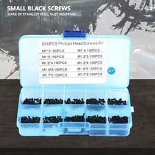 1000pcs Small Screws Cross Head Self-tapping Bolts Assortment Set M1-M1.7