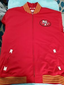San Francisco 49ers Mitchell & Ness Authentic Throwback Jacket 5XL NWT