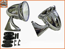 Pair OE Fit Adjustable Classic Polished Chrome Car Door Bullet Torpedo Mirrors