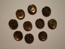 Buttons Mother-Of-Pearl 7.5mm for Shoes and Dress Doll Bundle of 10 Brown