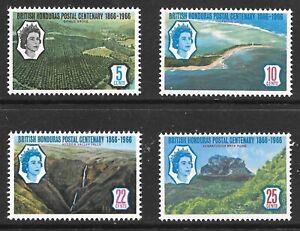 British Honduras (1966) - Scott # 200 - 203,   MNH