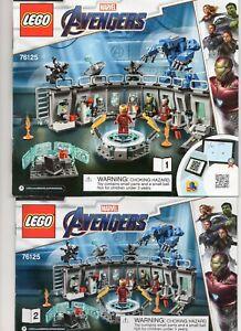 Lego Marvel Avengers (76125) Iron Man Hall Of Armor Instruction Manuals 1 & 2