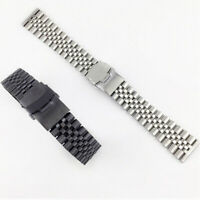 Stainless Steel Metal Bracelet Clasp Buckle Replacement Watch Band Strap 18-26mm