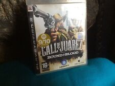 CALL OF JUAREZ BOUND IN Ps3 PLAYSTATION GAME BLUERAY DISC ON SONY FOR AGE 16+
