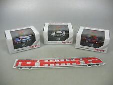 AI602-0,5# 3x Herpa H0 PKW BMW M3 DTM '93: Kaucuk+Maass+Bervid, NEUW+OVP