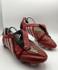 Adidas Predator Powerswerve TRX SG 2008 Studs Red Leather Football Boots UK 10