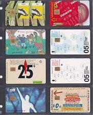 PAYS BAS 8 cartes téléphonique