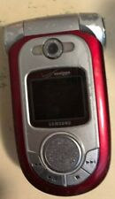 Samsung SCH-A950 Cell Phone Red Verizon Digital Dual Band Fast Ship Fair Used