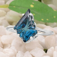 Simulated London Blue Topaz 925 Sterling Silver Ring Jewelry Size 6-9 DGR1098_A