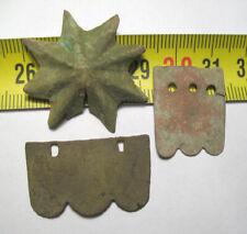 2 French kiver shako scales and star Napoleon Army dug relic 1812