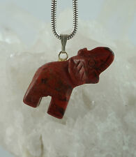 breckzien Jaspe brekzien Jaspe colgante elefante con ojal Gema N3